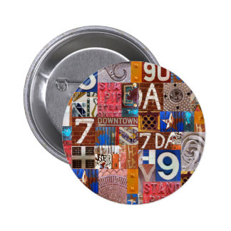 NYC up nahes Runder Button 5,1 Cm