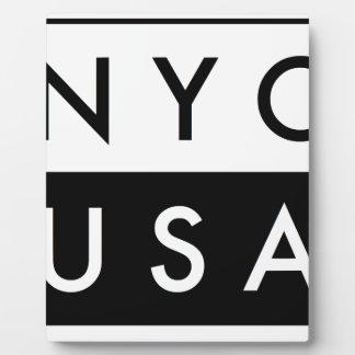 NYC USA FOTOPLATTE