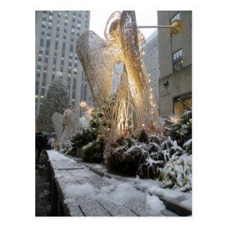 NYC Weihnachtsengel Postkarte
