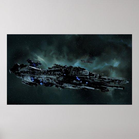 Nydenion Battleship Tucana at Sytaris Poster