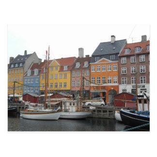 Nyhaven Boote und Kanal Kopenhagen Dänemark Postkarten