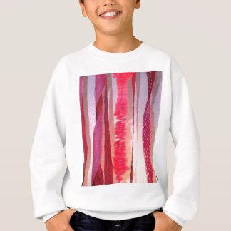 Nylon-Streifen Sweatshirt