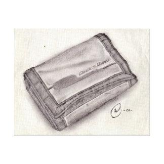 Nylongeldbörsen-Bleistift-Skizze - Pop-Kultur Leinwanddruck