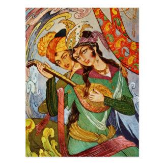 Nymphe mit setar Postkarte