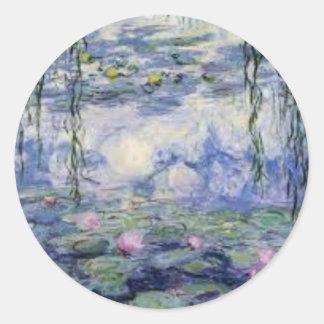 Nympheas von Claude Monet (Water Lilly) Runder Aufkleber