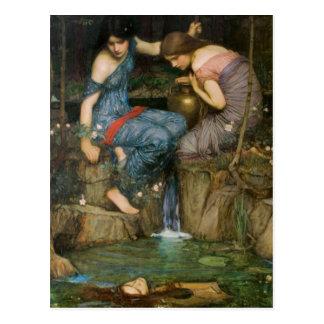 Nymphen, die den Kopf von Orpheus finden Postkarte