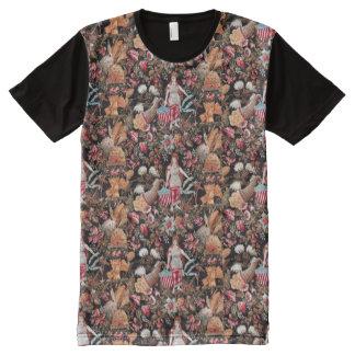 Nymphen mit Grafik-T - Shirt der amerikanischen