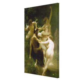 Nymphen und Satyr (Nymphes und Satiren) (1873) Gespannte Galerie Drucke