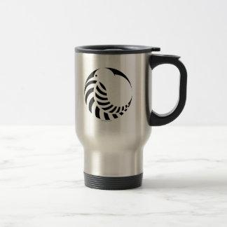 NZ Kiwi/silberner Farn-Emblem Reisebecher