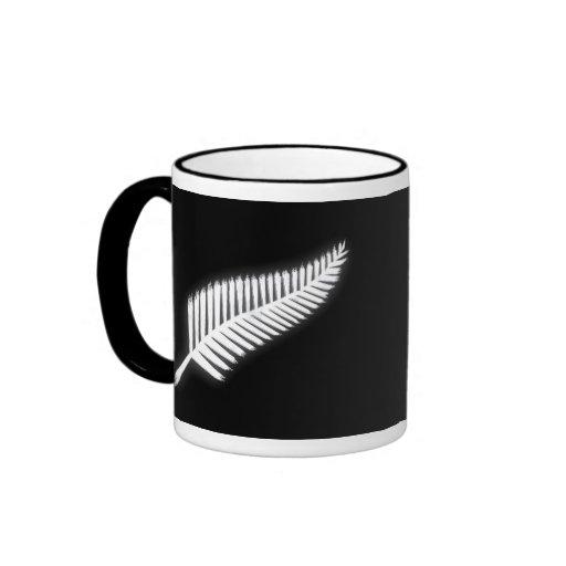 NZ silberner Farn-nationales Emblem-patriotisches  Teetasse