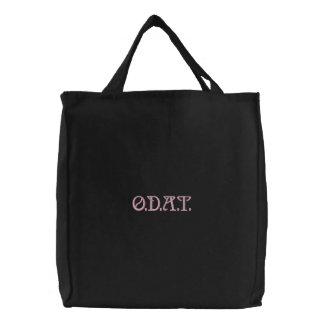O.D.A.T. (Ein Tag auf einmal) Erholung Bestickte Tragetasche