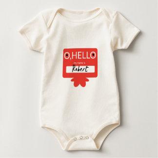 O hallo, mein Name ist Robert Baby Strampler