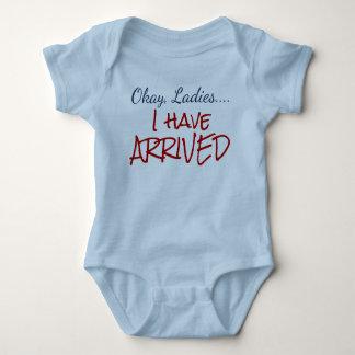 O.K., Damen… habe ich angekommenen Baby Strampler