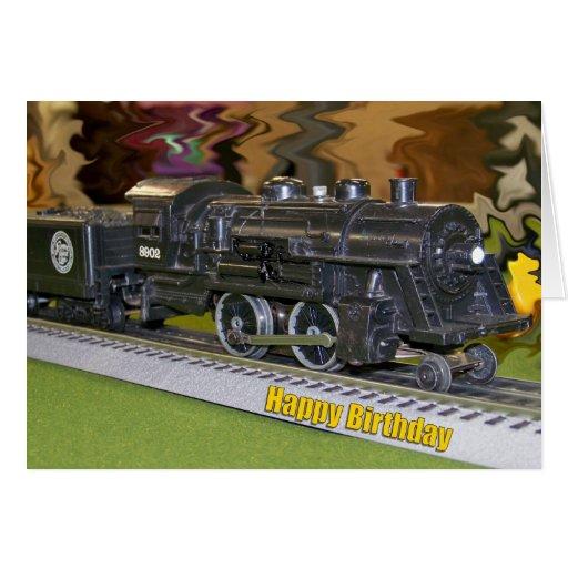 O-Modellbau-Zug - alles Gute zum Geburtstag Grußkarte