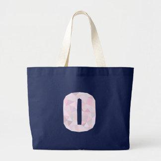 O - Niedrige Polydreiecke - neutrales rosa lila Jumbo Stoffbeutel