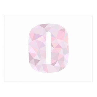 O - Niedrige Polydreiecke - neutrales rosa lila Postkarte