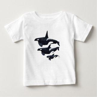 O.orca-fond transparent baby t-shirt