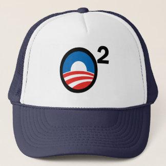 O quadrierte Obamas an zweiter Stelle Ausdruck Truckerkappe