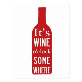 O-Uhr seines Weins 'irgendwo Postkarte