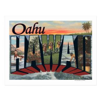 Oahu, HawaiiLarge Buchstabe ScenesOahu, HI Postkarte