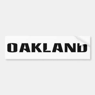Oakland Autoaufkleber
