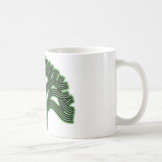Oakland-Baum-Grün-Dunst Kaffeetasse