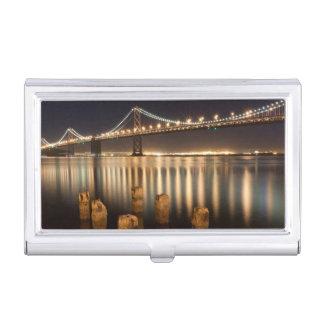 Oakland-Bucht-Brückennachtreflexionen Visitenkarten Dose