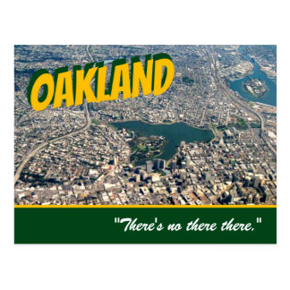 "Oakland: ""Es gibt kein dort dort. ""Stein-Postkarte Postkarte"