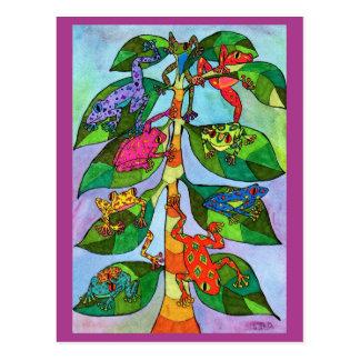 Oaxacan Frosch-Baum des Lebens Postkarte
