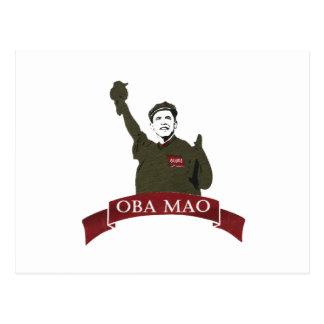 OBA MAO Obama + Freiheitsstatue Parodie Postkarte