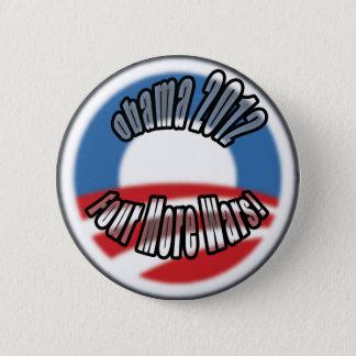 Obama2012 vier weitere Kriege Runder Button 5,1 Cm
