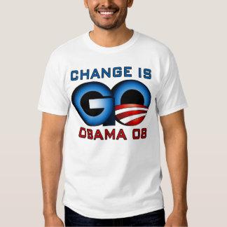 Obama 08, Änderung ist GEHEN Tshirt