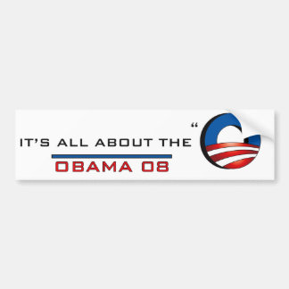 """Obama 08, ganz über das """"O """" Autoaufkleber"""