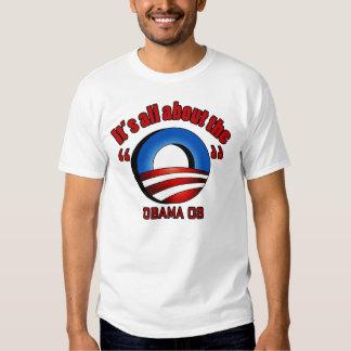 "Obama 08, ganz über das ""O"" - besonders T-shirt"