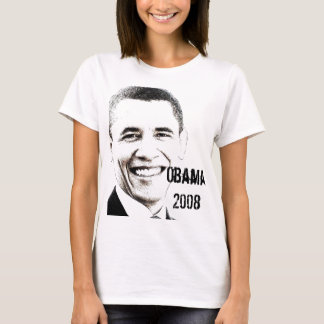 Obama '08 mit Website T-Shirt