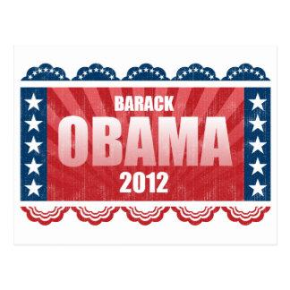 Obama 2012 postkarte
