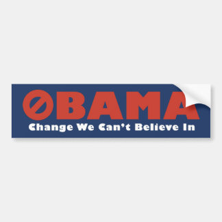 Obama-Änderung die wir… kippen Autosticker