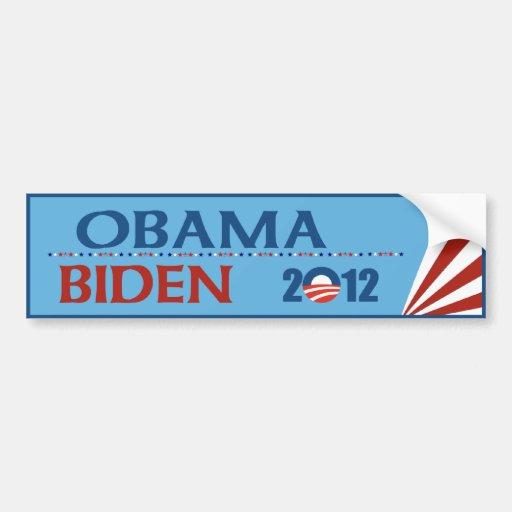 Obama - Biden Autoaufkleber 2012