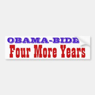 Obama-Biden--- Vier weitere Jahre Autoaufkleber