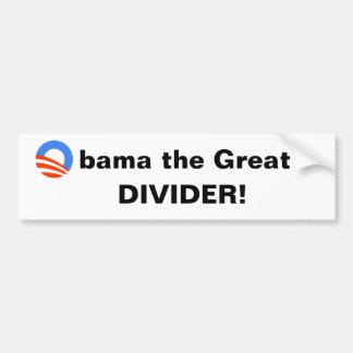 Obama das große -- Teiler! Autoaufkleber