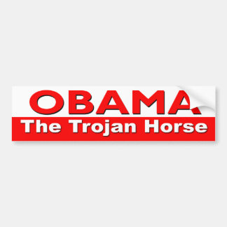 Obama das Trojan Horse Autoaufkleber