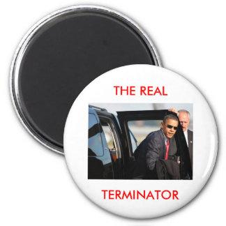 Obama - das wirkliche Abschlussprogramm Runder Magnet 5,7 Cm