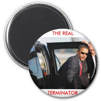 Obama - das wirkliche Abschlussprogramm Runder Magnet 5,1 Cm