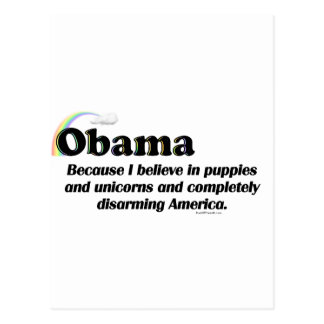 Obama, der Amerika entwaffnet Postkarte