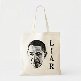 Obama der Lügner Budget Stoffbeutel