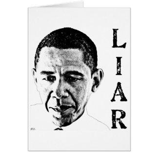 Obama der Lügner Karte