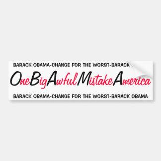 OBAMA - ein großer schrecklicher Fehler Amerika Autoaufkleber