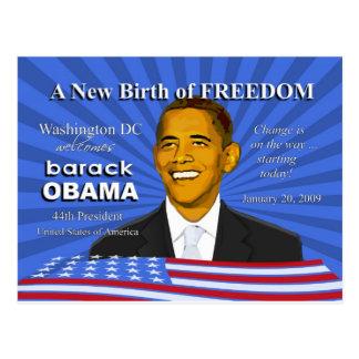 Obama-Einweihungs-Ereignis-Washington DC-Postkarte Postkarte
