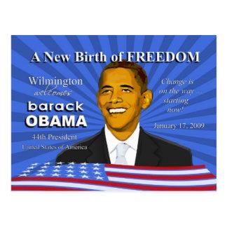 Obama-Einweihungs-Ereignisse Wilmington Delaware Postkarte