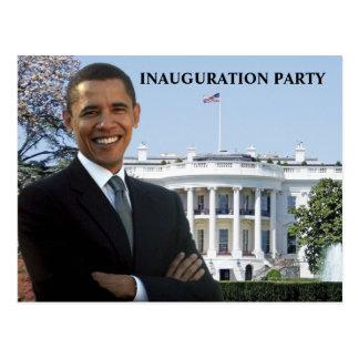 Obama-Einweihungs-Party Einladung Postkarte